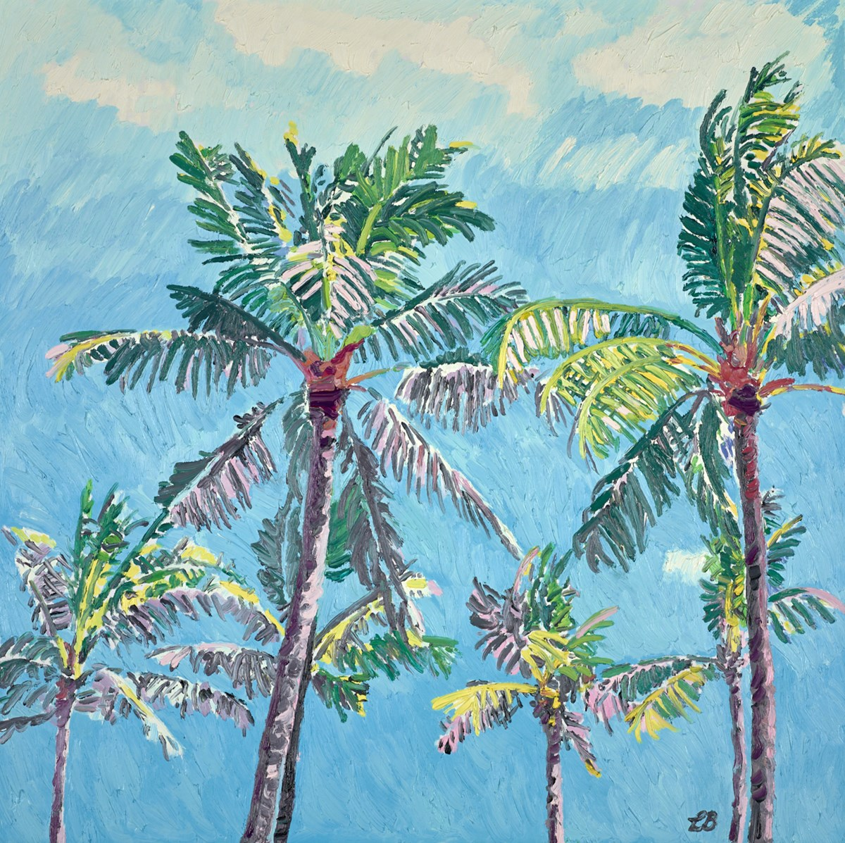 Cerulean Skies and Sunlit Palms